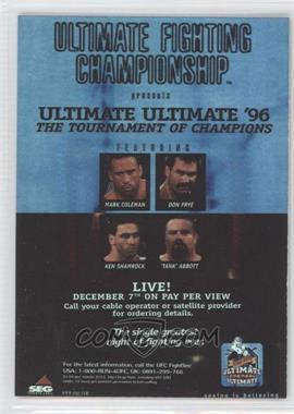 "2010 Topps UFC Series 4 - Fight Poster Review #FPR-UFCUU96 - UFCUU96 (Don Frye vs. ""Tank"" Abbott)"