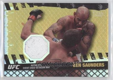 2010 Topps UFC Series 4 Fight Mat Relics Gold #FM-BS - Ben Saunders /188