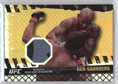2010 Topps UFC Series 4 Fight Mat Relics Gold #FM-BS - Ben Saunders /188