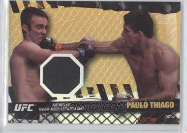 2010 Topps UFC Series 4 Fight Mat Relics Gold #FM-PT - Paulo Thiago /188