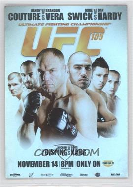 2010 Topps UFC Series 4 Fight Poster Review #FPR-UFC105 - UFC105 (Randy Couture, Brandon Vera, Dan Hardy, Mike Swick, Michael Bisping, Denis Kang)