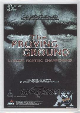 2010 Topps UFC Series 4 Fight Poster Review #FPR-UFC11 - UFC11 (The Proving Ground)