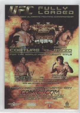 2010 Topps UFC Series 4 Fight Poster Review #FPR-UFC31 - UFC31 (Randy Couture, Pedro Rizzo, Pat Miletich, Carlos Newton)