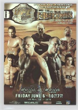 """2010 Topps UFC Series 4 Fight Poster Review #FPR-UFC43 - UFC43 (Chuck Liddell, Randy Couture, Frank Mir, Ken Shamrock, David """"Tank"""" Abbott, Kimo Leopoldo, Vitor Belfort)"""