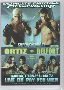 2010 Topps UFC Series 4 Fight Poster Review #FPR-UFC51 - UFC51 (Tito Ortiz, Vitor Belfort, Tim Sylvia, Andrei Arlovski, David Terrell, Evan Tanner)