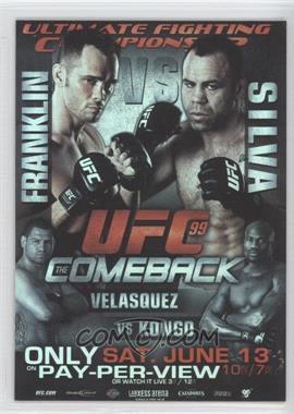 2010 Topps UFC Series 4 Fight Poster Review #FPR-UFC99 - UFC99 (Rich Franklin, Wanderlei Silva, Cain Velasquez, Cheick Kongo)
