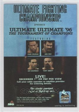 "2010 Topps UFC Series 4 Fight Poster Review #FPR-UFCUU96 - Don Frye vs. ""Tank"" Abbott"