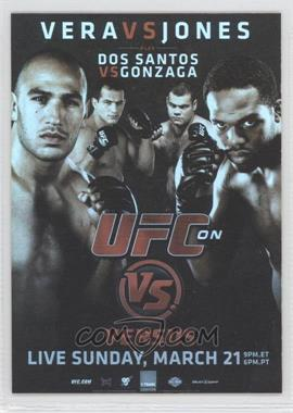 2010 Topps UFC Series 4 Fight Poster Review #FPR-UFCVS1 - UFC on VS 1 (Jon Jones, Brandon Vera, Junior Dos Santos, Gabriel Gonzaga)