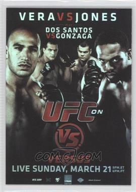 2010 Topps UFC Series 4 Fight Poster Review #FPR-UFCVS1 - UFC on VS 1 (Jon Jones, Brandon Vera, Junior Dos Santos, Gabriel Gonzaga)