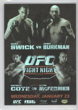 2010 Topps UFC Series 4 Fight Poster Review #FPR-UFN12 - UFN12 (Mike Swick, Josh Burkman)