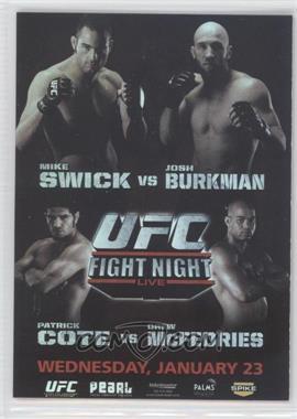 2010 Topps UFC Series 4 Fight Poster Review #FPR-UFN12 - UFN12 (Mike Swick, Josh Burkman)