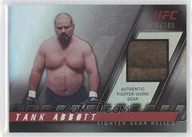 "2010 Topps UFC Series 4 Fighter Gear Relics #FG-TA - David ""Tank"" Abbott /188"