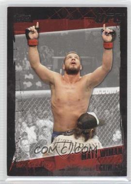 2010 Topps UFC Series 4 Onyx #128 - Matt Wiman /188