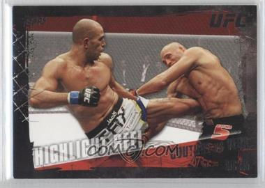 2010 Topps UFC Series 4 Onyx #197 - Highlight Reel - Randy Couture vs Brandon Vera /188
