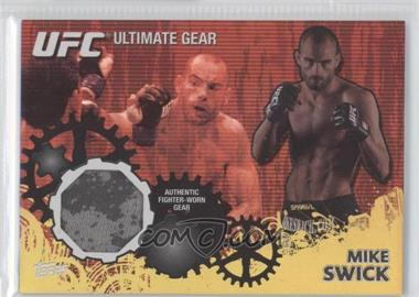 2010 Topps UFC Series 4 Ultimate Gear Relic Gold #UG-MS - Mike Swick /108