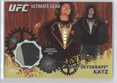 2010 Topps UFC Series 4 Ultimate Gear Relic Gold #UG-TK - Tim Katz /188