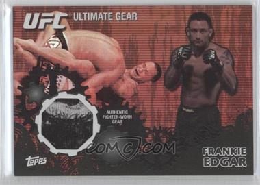 2010 Topps UFC Series 4 Ultimate Gear Relic Onyx #UG-FE - Frankie Edgar /88
