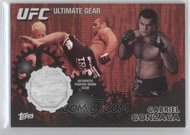 2010 Topps UFC Series 4 Ultimate Gear Relic Onyx #UG-GG - Gabriel Gonzaga /88