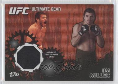 2010 Topps UFC Series 4 Ultimate Gear Relic Onyx #UG-JM - Jim Miller /88