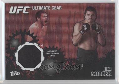 2010 Topps UFC Series 4 Ultimate Gear Relic Onyx #UG-JM - Jim Miller /88