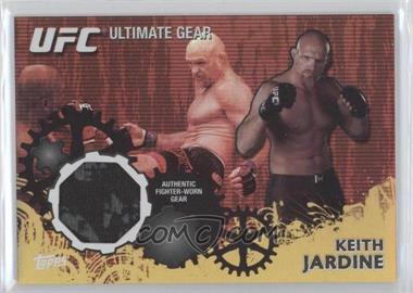 2010 Topps UFC Ultimate Gear Relic Gold #UG-KJ - Keith Jardine /108