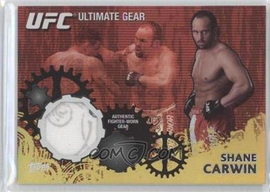 2010 Topps UFC Ultimate Gear Relic Gold #UG-SC - Shane Carwin /108