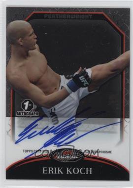 2011 Topps UFC Finest - Fighter Autographs #A-EK - Erik Koch