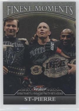 2011 Topps UFC Finest - Finest Moments - Octo-Fractor #FM-GSP - Georges St-Pierre /8