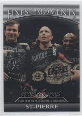 2011 Topps UFC Finest - Finest Moments #FM-GSP - Georges St-Pierre /388