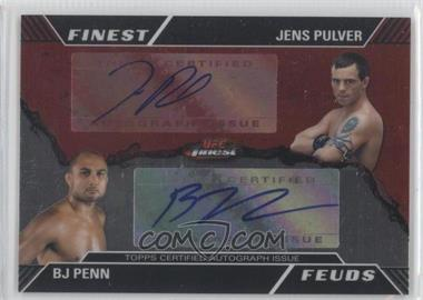 2011 Topps UFC Finest Feuds Dual Autographs #FF-PP - Jens Pulver /25