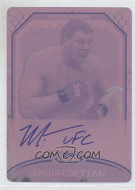 2011 Topps UFC Finest Fighter Autographs Printing Plate Magenta #A-MM - Matt Mitrione /1