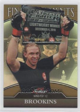 2011 Topps UFC Finest Finest Moments Gold Refractor #FM-JB - Jonathan Brookins /88