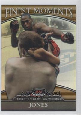 "2011 Topps UFC Finest Finest Moments Gold Refractor #FM-JJ - Jon ""Bones"" Jones (Jon Jones) /88"