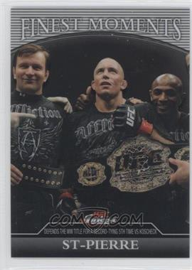 2011 Topps UFC Finest Finest Moments #FM-GSP - Georges St-Pierre /388