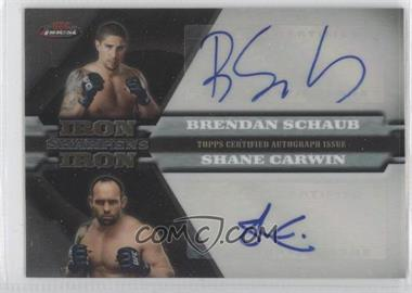 2011 Topps UFC Finest Iron Sharpens Iron Dual Autographs #ISI-SC - [Missing] /25