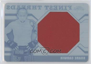 2011 Topps UFC Finest Threads Jumbo Relics Printing Plate Cyan #JR-SC - Shane Carwin /1