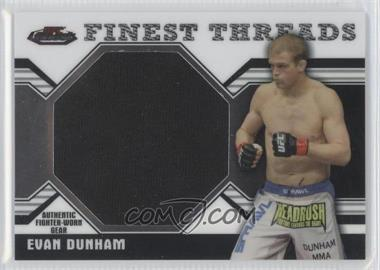 2011 Topps UFC Finest Threads Jumbo Relics #JR-ED - Evan Dunham