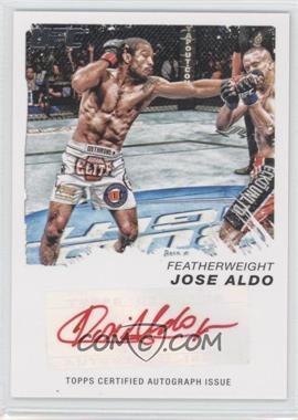 2011 Topps UFC Moment of Truth - Certified Signatures - Red Ink #CS-JA - Jose Aldo /15