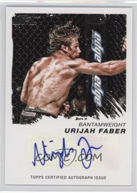 2011 Topps UFC Moment of Truth Certified Signatures #CS-UF - Urijah Faber