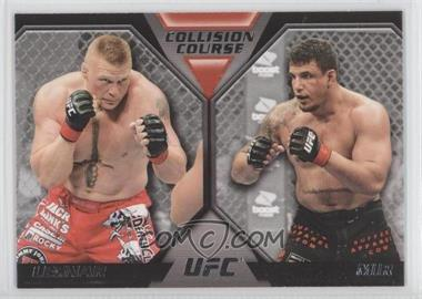 2011 Topps UFC Moment of Truth Colission Course Duals #CC-LM - Brock Lesnar, Frank Mir