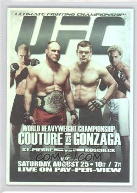 2011 Topps UFC Moment of Truth Fight Poster Review #FPR-UFC74 - UFC74 (Randy Couture, Gabriel Gonzaga, Georges St-Pierre, Josh Koscheck)