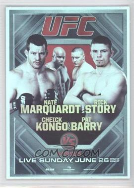 2011 Topps UFC Moment of Truth Fight Poster Review #FPR-UFCVS4 - UFC on VS 4 (Nate Marquardt, Rick Story, Cheick Kongo, Pat Barry)