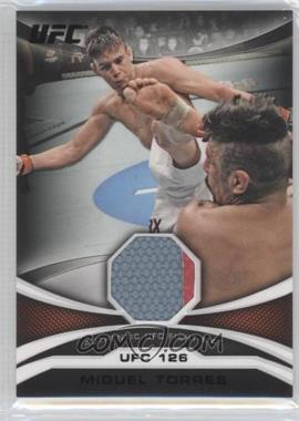 2011 Topps UFC Moment of Truth Mat Relic Onyx #MTMR-MT - Miguel Torres /88