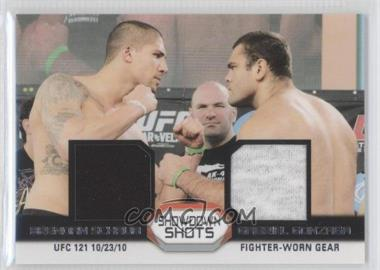 2011 Topps UFC Moment of Truth Showdown Shots Dual Relics #SSDR-SG - Brendan Schaub, Gabriel Gonzaga