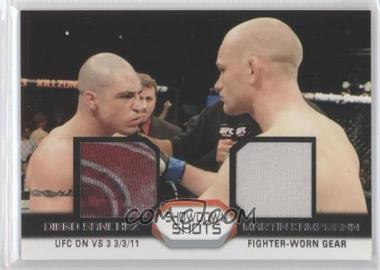 2011 Topps UFC Moment of Truth Showdown Shots Dual Relics #SSDR-SK - Diego Sanchez, Martin Kampmann