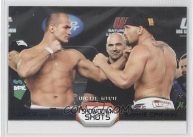 2011 Topps UFC Moment of Truth Showdown Shots Duals Onyx #SS-DC - Junior Dos Santos, Shane Carwin /88