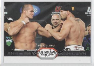 2011 Topps UFC Moment of Truth Showdown Shots Duals #SS-DC - Junior Dos Santos, Shane Carwin