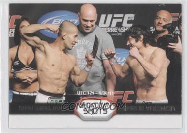 2011 Topps UFC Moment of Truth Showdown Shots Duals #SS-MV - Ivan Menjivar vs. Charlie Valencia