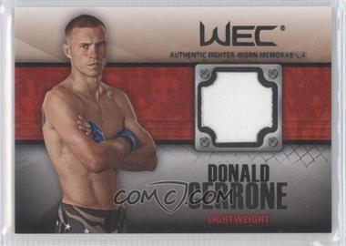 2011 Topps UFC Title Shot - Fighter Relics - Black #FR-DCE - Donald Cerrone /88