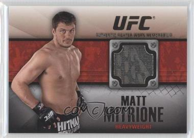 2011 Topps UFC Title Shot - Fighter Relics - Black #FR-MM - Matt Mitrione /88